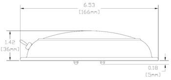 Imtra Gibraltar ILSH20301 G4 Halogen Downlight Stainless Steel w/ Switch