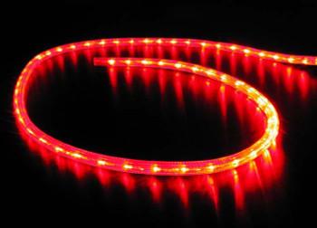 """LED Rope Lighting, 12V, 3/8"""" PVC (per ft.)   RED  ILMDL-RE-12LED"""