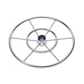 "24"" Twenty Four Inch Double Ring Destroyer Steering Wheel 1122411 - 3/4"" Three Quarter Inch Tapered Shaft - 3/8"" Three Eighth Inch Spoke Size - 10 Ten Degrees Of Dish"