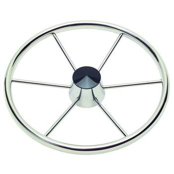 """Schmitt Model 150 17"""" 6 Spoke Destroyer Wheel - 3/4"""" Tapered Shaft - Standard Rim Black Center Cap 22° Dish - 1521721"""