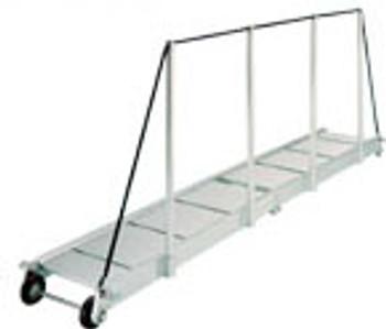 """Gangway """"PA161.35"""", Manual Folding Gangway 3500mm Alum w/Alum Deck Finish"""