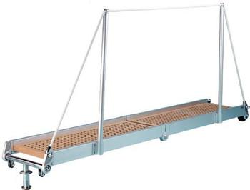 """Gangway """"PT163.25"""", Manual Folding Gangway 2500mm Alum w/Teak Deck Finish"""