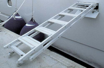 "Retractable Side Ladder ""SI403"", 6-Step Version"