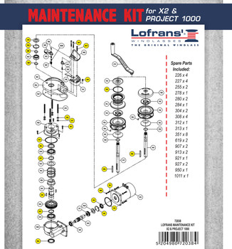 Parts Breakdown list for LWP72038