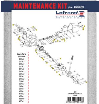 Maintenance Kit breakdown for LW415AN.