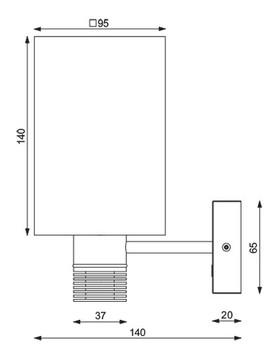 Prebit ILPB25013709 LED Boat Wall Sconce -Matte Chrome - Warm White