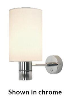Prebit ILPB25013907 Nova LED Marine Wall Sconce -Matte Chrome - Warm White