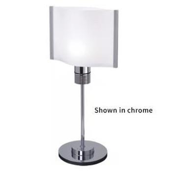 Prebit ILPB25012307 Rostock LED Marine Table Lamp w/ Switch & Dimmer- Matte Chrome - Warm White