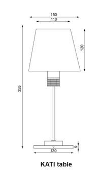 Prebit ILPB70100709 Kati LED Marine Table Lamp w/ Switch & Dimmer- Gold - Warm White