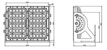 Imtra Pitmaster ILPM05B6060 60-LED Commercial Marine Deck Light - Black - 60° Beam - 11-65VDC
