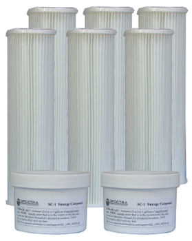 Spectra Cruise Kit B - Includes 3x 5 Micron Pre-filter, 3x 20 Micron Pre-filter, 1x Charcoal Filter, 2x SC-1