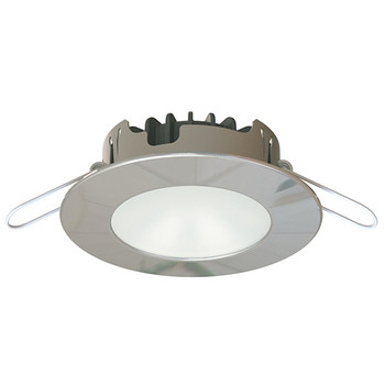 Imtra Wave PowerLED - Warm White 10-40VDC 4.7W - Polished Stainless Steel Trim Ring- Boat Downlight ILIM60001