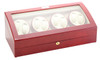 Watch Winder for Eight   Diplomat Estate Cherry Wood Finish