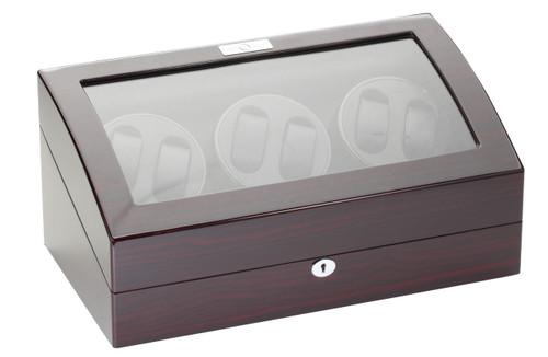 Watch Winder | Diplomat Gothica Six Watch Winder (Ebony Wood)