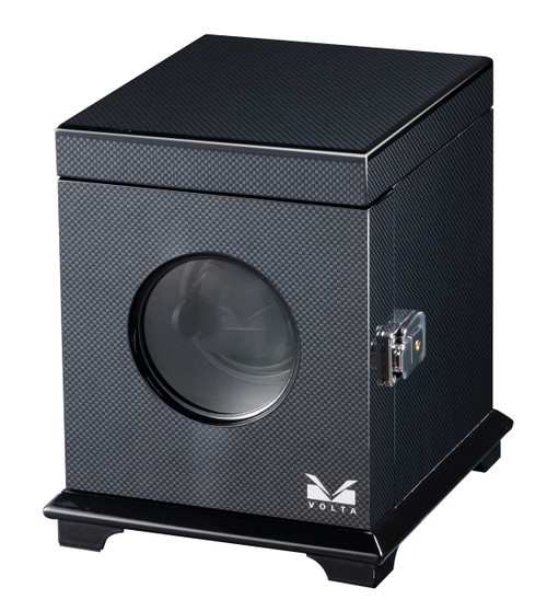VOLTA SINGLE SQUARE WATCH WINDER (CARBON FIBER)