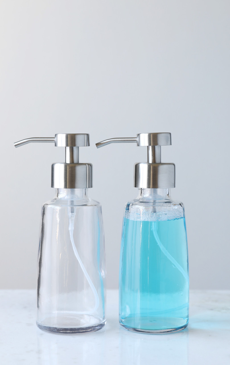 Foam Soap Dispensers | Coastal Glass Foaming Soap Dispenser | RAIL19