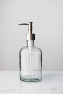 Clear Recycled Glass Soap Dispenser
