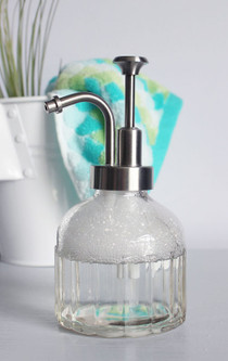 Inkwell Glass Soap Dispenser with Stainless Pump