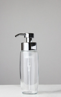 Large Glass Foam Soap Dispenser with Chrome Pump