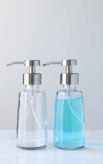 Coastal Glass Foaming Soap Dispenser