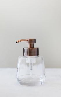 Bõl Copper Glass Foam Soap Dispenser