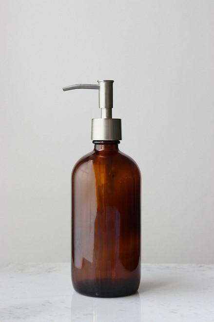 Market Amber Glass Soap Dispenser Rail19