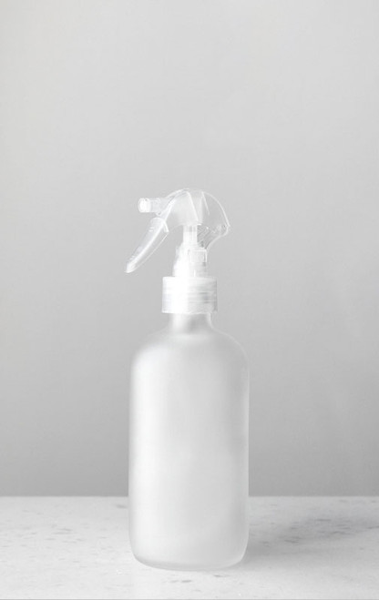Apothecary Frosted Glass Mist Bottle with Clear Mist Nozzle