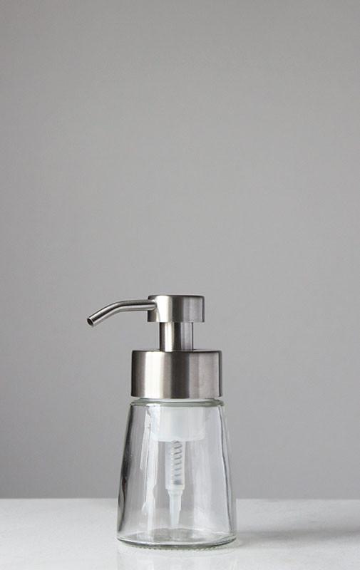 Clear Glass Pump Soap Dispenser Uk