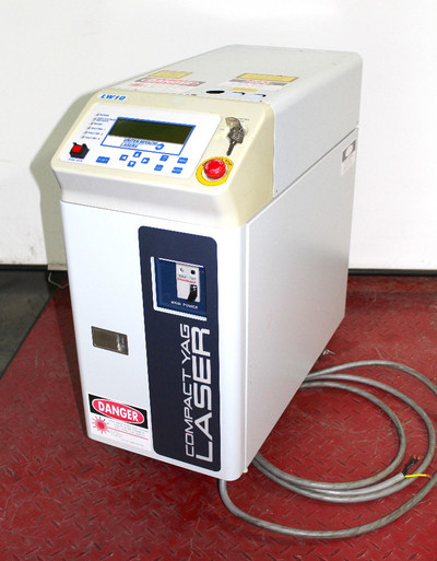 Unitek Miyachi LW-10 Pulsed ND Yag Laser Precision Spot Welder 220Vac