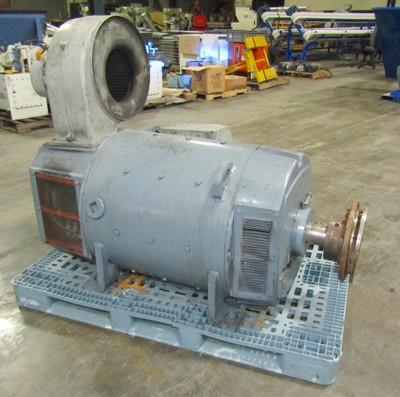 Siemens 400Hp DC Motor 500V Shunt Wound 1750/1900 RPM DPFG-BV, w/ Tachometer
