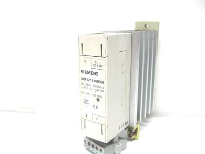 Siemens 3RF1211-0HC04 Solid State Relay 240 Vac, 5-24 Vdc