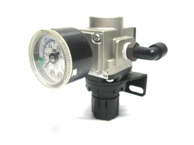 Smc AR20K-02BG Pneumatic Regulator 0-1.0 Psi, 1/4 Inch Npt