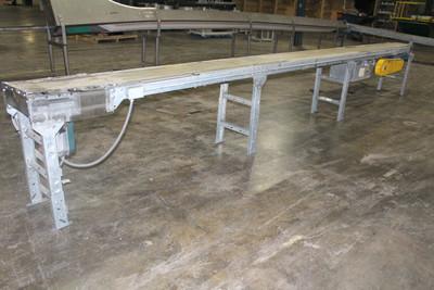 21 Ft. L x 12 In. W Belt Conveyor 1Hp Reliance Motor w/ Speed Controller 460V