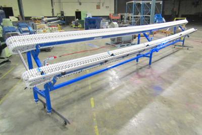"SpanTech 24 Ft. Long Flexible Link Conveyor, Dual 6"" Chain Belts, Sew Eurodrive"
