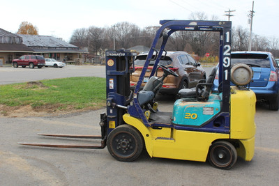 Komatsu FG20ST-12R Forklift 4000 Lb Capacity, LP, Cushion Tire, Short Mast