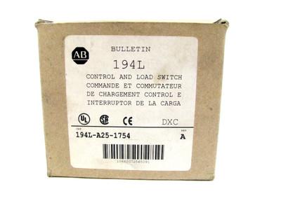 Allen Bradley 194L-A25-1754 Series A Control and Load Switch 194LA251754