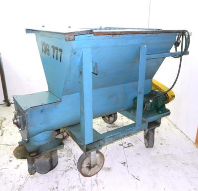 "Portable Material Surge Bin with 9"" Unload Auger 24 Cu. Ft Hopper 208-460Vac"