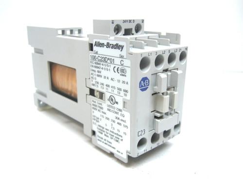 Allen Bradley 100-C23D 01 Contactor Series C 24 Vdc