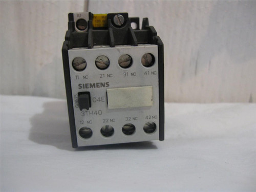 Siemens 3TH4004-0A Contactor, Control Relay