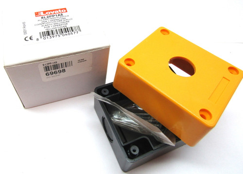 LOVATO 8-L2PP-1A5 Plastic Enclosure for One Control Station, 69698 Yellow