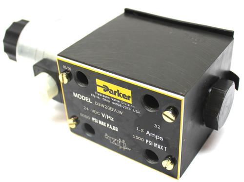Parker D3W20BVJW Directional Control Solenoid Valve 2 Position 5000 Psi 24Vdc