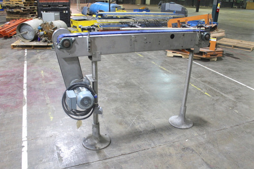 "5' x 4"" Stainless Steel Intralox Style Bottle Conveyor Sew Eurodrive 230-460V"