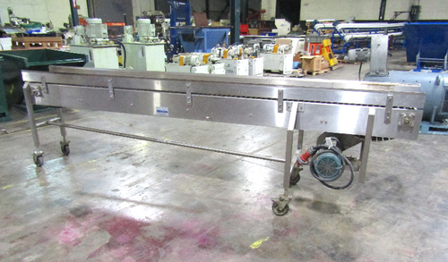 Nercon In Wide X Ft Long Stainless Steel Table Top Conveyor - 10 ft stainless steel table