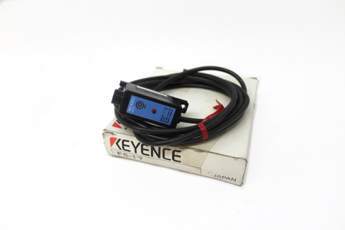 Keyence FS-17 Digital Fiber Optic Sensor, Amplifier NPN, 24V, New
