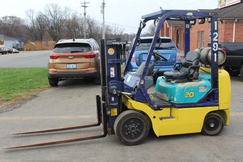 Komatsu FG20ST-12R Forklift 4000 Lb Capacity, LP, Cushion Tire, Short Mast,