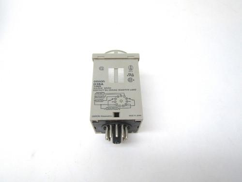 omron,h3ba,multi-functional,timer relay,24v,new,11 pin socket,spdt,