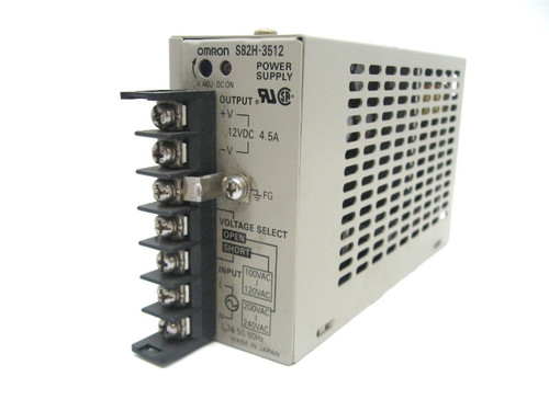 Omron S82H-3512 Power Supply, 12Vdc Output, 4.5A, 100-240Vac Input, 1.3A