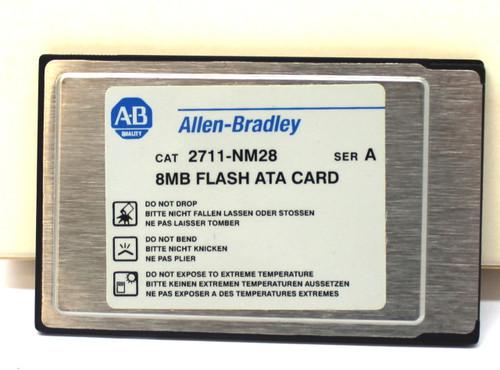 Allen Bradley 2711-NM28 Ser. A 8MB Flash ATA Card Sandisk PCMCIA Card