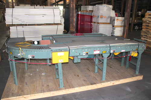 "Hytrol Roller Conveyor 16"" w x 30' L with EZLogic Controls 208-460Vac"