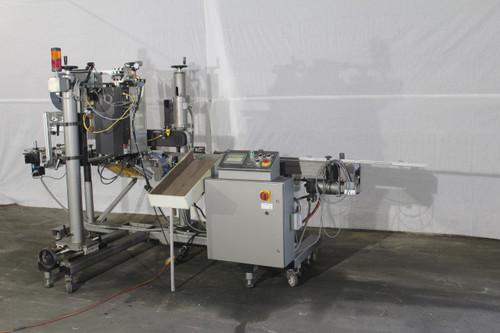 CTM Automatic Labeling System w/ 3600-PA Label Applicator, Sato M-8490Se Printer